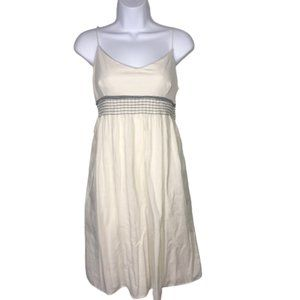 James Perse LA Off-White Cotton Summer Dress Sz L